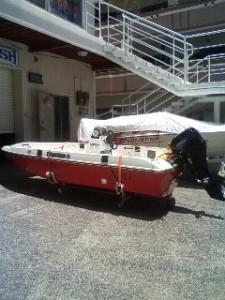 ボートをおろしました。