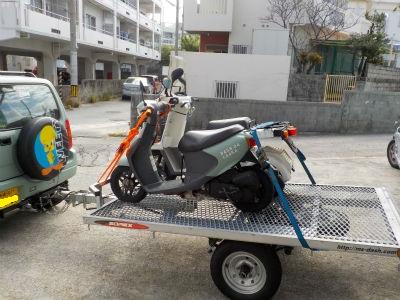バイク 2台 積載