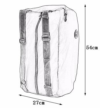 折りたたみバッグパック サイズ